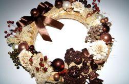 stroik świąteczny brąz PROMOCJA