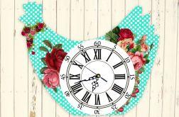 Zegar Ścienny Kurka Kura Wielkanoc