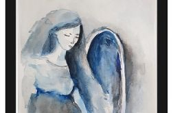 Anioł-akwarela A5