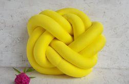 Poduszka precel żółta