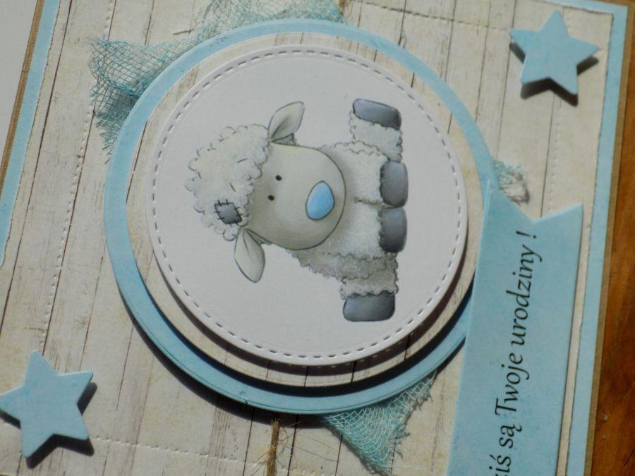 Kartka urodzinowa/roczek - niebieski nosek