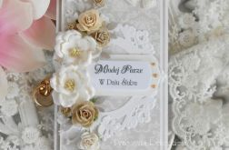 Ślubna kartka w pudełku DL 05