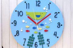 Zegar dla dziecka z rybkami