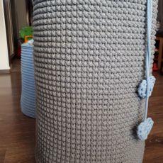 Duży kosz ze sznurka bawełnianego