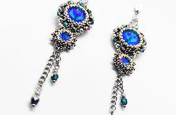 Kolczyki Bling- Niebieskie
