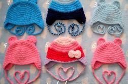 Zimowe czapki misiowe