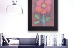 Rysunek kwiat na czarnym tle nr 6