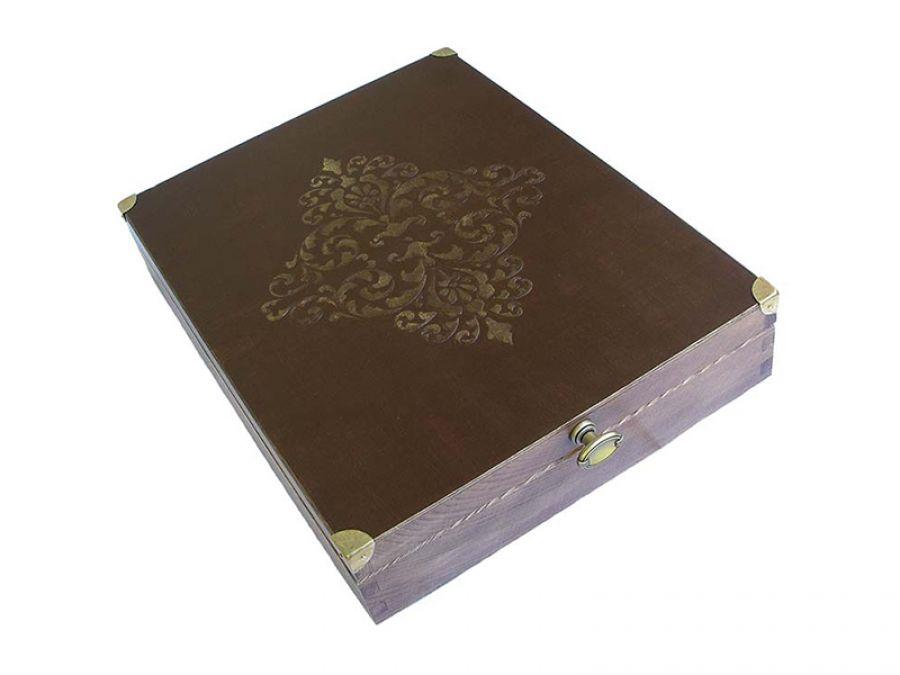 ZŁOTY ORNAMENT - pudełko na sztućce