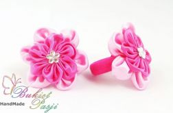 Gumki różowe do włosów dla dziewczynki