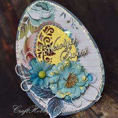 Wielkanocna turkusowa pisanka