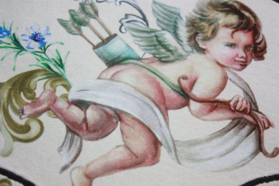 torba worek jedwabny aniołek- na Fundację -
