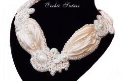 Naszyjnik ślubny SHIBORI silk ribbon #3