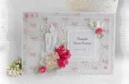 Pamiątka chrztu w pudełku róż #3