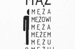 damskie L - Koszulka z napisami- Mąż -