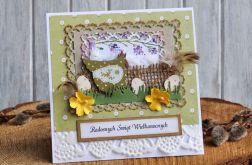 Kartka Wielkanocna eko z kurką 8