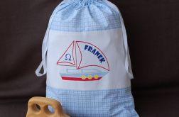 Mały żeglarz - spersonalizowany worek na zabawki