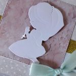 Kartka Komunia Święta dziewczynka biała -
