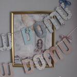 Girlanda Pink or Blue - róż