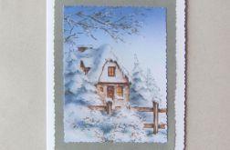 Kartka zimowa chatka