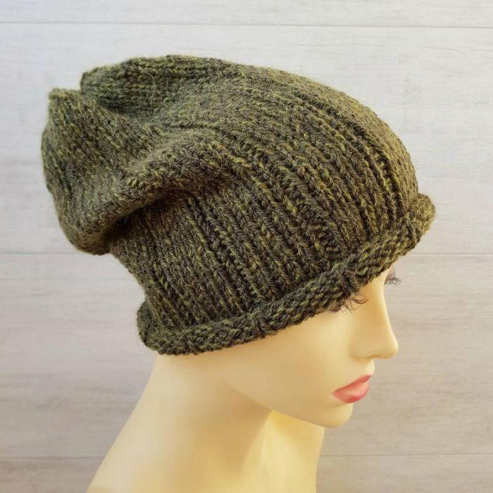 Ciepła czapka unisex w kolorze khaki - ciepła czapka