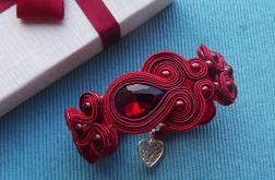 Rubinowa II bransoletka z kryształkami