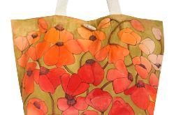 Ekologiczna ręcznie malowana torba na zakupy