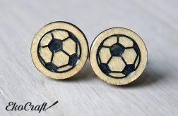 Drewniane spinki do mankietów PIŁKA Color