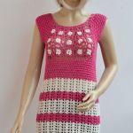 Różowa sukienka plażowa - tunika