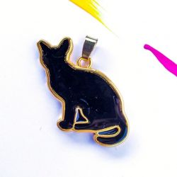 Wisiorek Czarny kot