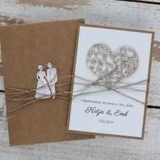 Oryginalna kartka ślubna i pudełko 3