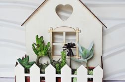 Domek kwietnik organizer osłonka na kwiaty