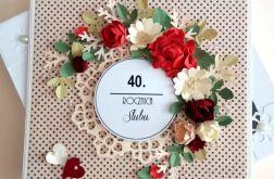 40 Rocznica Ślubu Girlanda Kwiatów