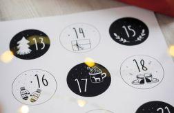 Naklejki do kalendarza adwentowego scandi