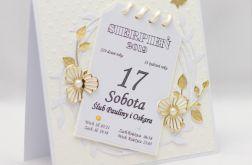 Kartka z kalendarza * kartka ślubna - KS1921