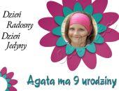 Zaproszenie na urodziny dziecka ze zdjęciem na 2,3,4,5,6,7,8,9 itd Kwiatek