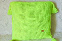 Żółta neonowa poduszka 45 x 45 cm