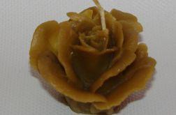 róża dla mamy - świeczka z wosku pszczelego