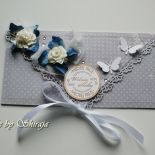 Kopertówka z okazji ślubu-'stalowe błękity'