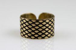 Rybia łuska - mosiężny pierścionek 130620-09