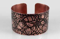 Pajęczyna - miedziana bransoletka 210601-02