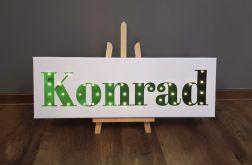 Personalizowany obraz LED - zielony ombre