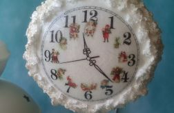 Ośnieżone Zegary - medalion 10cm