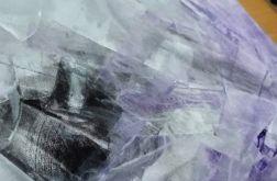 Obraz abstrakcja fiolet 40x40