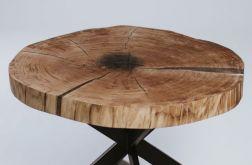 Stolik dębowy z plastra drewna