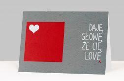 Kartka LOVE - wzór 15
