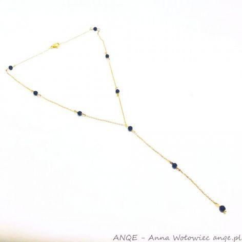 Naszyjnik Onyks czarny fasetka model 2