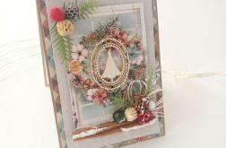 Choineczka w oknie - kartka świąteczna