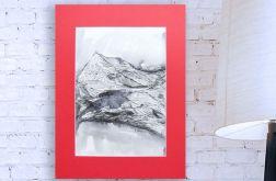 czarno biały rysunek Szkic górski nr 4 graf