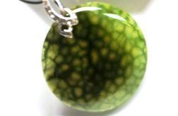 Jasnozielony agat pajęczy, piękny kamień