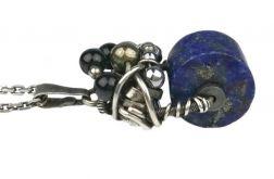 Srebrny wisiorek z Lapis Lazuli, Mały, Srebro